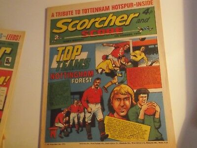 1972 Scorcher And Score Comic Nottingham Forest On Cover In Top Team Series