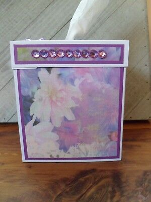 NeW LaVeNDeR WaTerCoLoR FLoRaL PaPeR CRaFTeD HanDmAdE TiSSuE KLeeNeX BoX CoVeR
