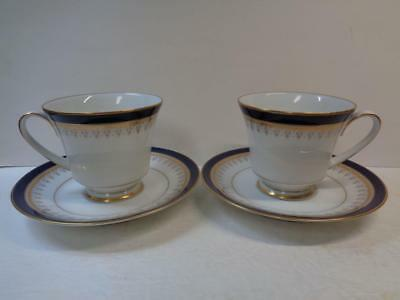 Vtg lot of 2 Noritake GRAND MONAC 3595 Coffee Cup & Saucer sets LEGACY Collectio