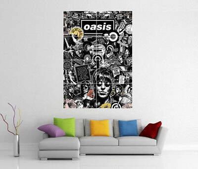 Oasis Liam & Noel Gallagher Giant Wall Art Photo Print Poster