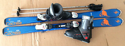 TOP Blizzard Kinder Carving Ski Set 130 cm Tecno Skischuhe Gr. 37-38 MP 245 P12