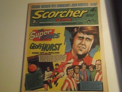 1973 Scorcher And Score Comic Geoff Hurst 1966 World Cup Final Winner On Cover