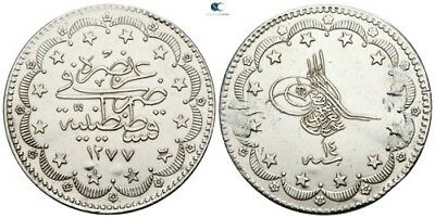 Savoca Coins Ottoman Empire Silver Coin Traces Mounting 23,88g/36mm $KBP5456