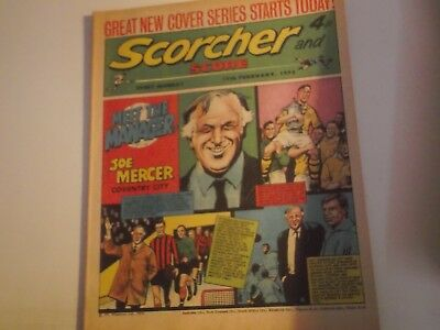 1973 Scorcher And Score Comic Joe Mercer Manager Of Coventry City On Cover
