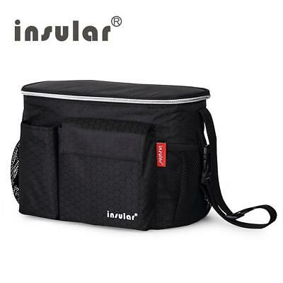 Insular Brand Thermal Insulation Baby Diaper Bags For Strollers Waterproof Nappy