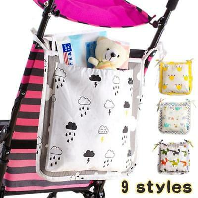 Baby diaper bag Cot Bed Hanging Storage Bag Toy nappy Pocket Organizer for Crib