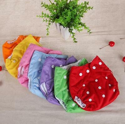Baby Diapers Washable Reusable Nappies Grid/Cotton Training Pant Cloth Diaper Ba