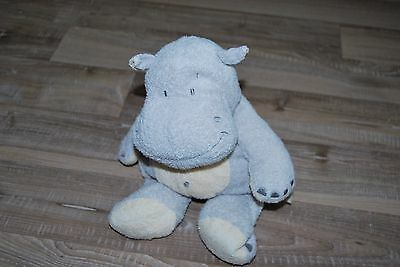 Doudou Hippopotame gris bleu The Baby Collection by Nicotoy 27 cm