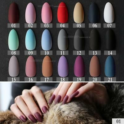 New Matte False Short Pointed Soft Pink Nude Red Black Blue fake stiletto nails
