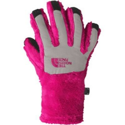 The North Face Youth Denali Thermal Etip Gloves Big Girls Size Medium Pink NEW