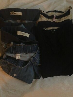 Maternity Lot Jeans & Long Sleeve Tops, Size 6/M