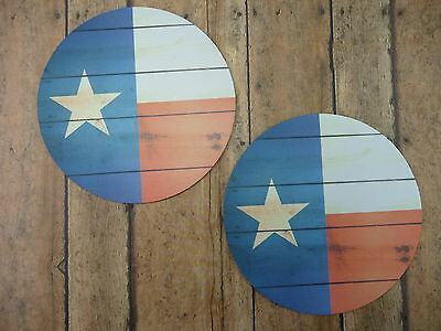 JAR OPENER Set of 2 TEXAS Flag Lone Star State Round Bottles Red White Blue