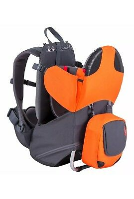 Phil & Teds Parade Lightweight Backpack Baby Carrier - Orange / Grey New In Box!
