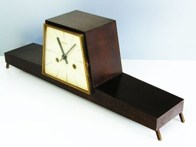 Beautiful Later Art Deco Design Chiming Mantel Clock From Hermle Of 50 ´s
