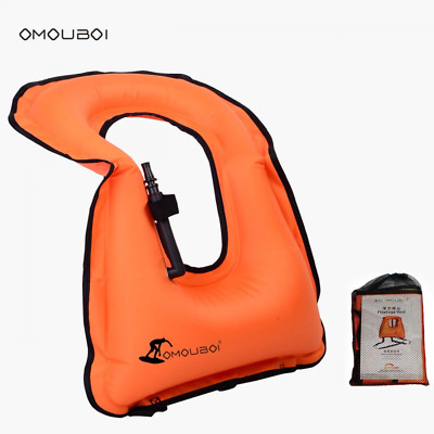 JACKETS Unisex Adult Portable Inflatable Canvas Snorkel Vest For Diving Safety