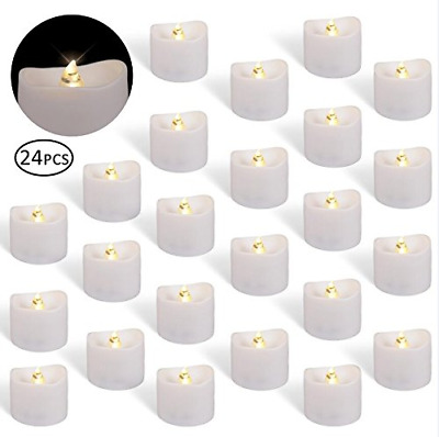 Battery Operated LED Tea Lights,Pack of 24 Flameless Tealights Candle Warm White