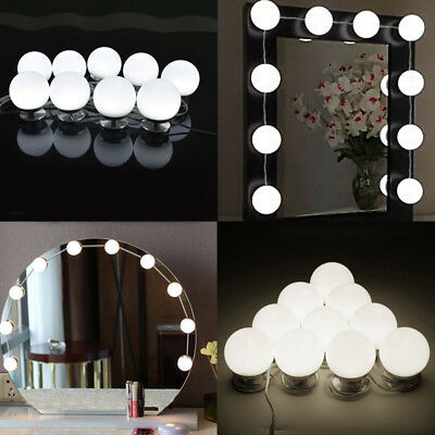 Vanity Led Mirror Light Kit For Makeup Hollywood 10 Bulb Stage Lamp