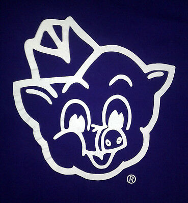 I Dig The Pig Piggly Wiggly Logo Purple and White T-Shirt M VGUC 40 Chest
