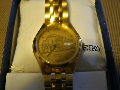 CSX Railroad SEIKO Watch, NEW in Keepsake Box, Service Recognition Award