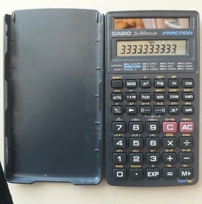 CASIO FX-260 SOLAR Scientific Calculator with cover, Black