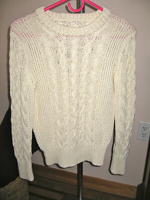 CREWCUTS Aran cables COTTON  kids Pullover Sweater size 12