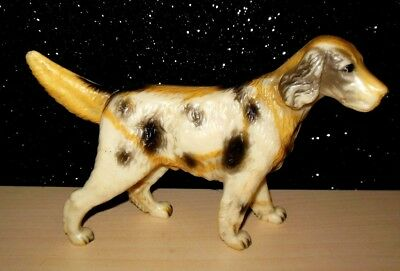 "Vintage Hard Plastic Pointer Hunting Dog Figure Hong Kong No.103 HTF 4.5""T 7""L"