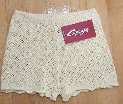 New Capezio CK1008c Yellow Knit Dance Shorts Girls sizes, Regular $24