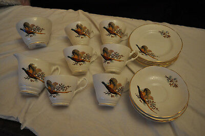 Royal Stuart Pheasant tea set