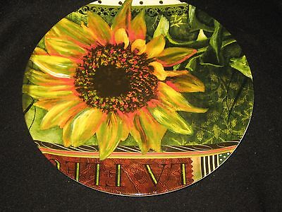 Certified International Sunflower Salad Plates - - Set Of 4 - New