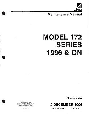 Cessna 172 Maintenance Manual
