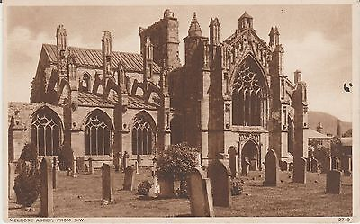Melrose - Abbey From S.w. - Real Photo Vintage Postcard #rp# 10291