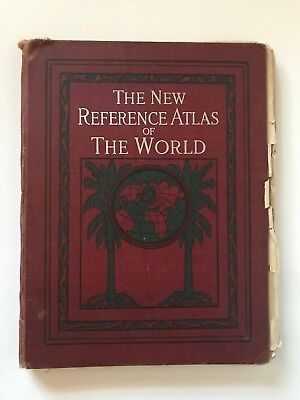 1910 Hammond The New Reference Atlas of the World Maps Panama Canal North Pole