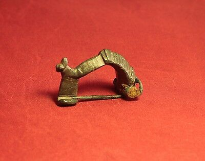 Ancient Roman Mouse Fibula or Brooch, 2. Century - Zoomorph!