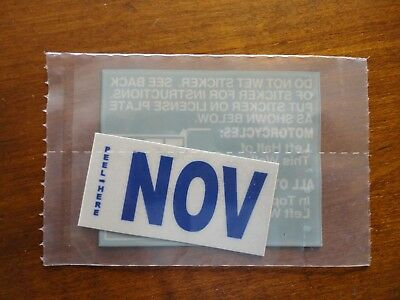 November NOV Month California DMV License Plate BLUE Registration Sticker.New.