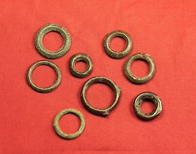 Lot of 8 Ancient Celtic Rings