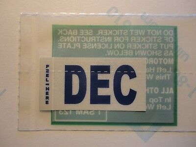 December DEC Month California DMV License Plate BLUE Registration Sticker.New.