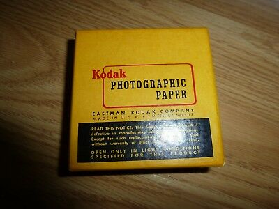 "Kodak F-2 Single Weight  Photographic Paper -100 Sheets 2.5"" x 2.5"""