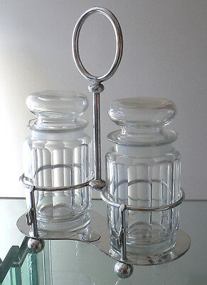 Victorian Sheffield Silver Plated Double Pickle Stand - Dixons *