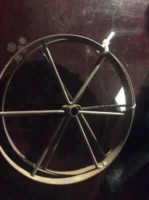 Antique  Cast Iron Wheels  7 Inch Steel. Rare Small Size.