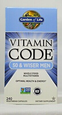 garden of life vitamin code 50 wiser men 240 capsules whole food multivitamin - Garden Of Life Multivitamin
