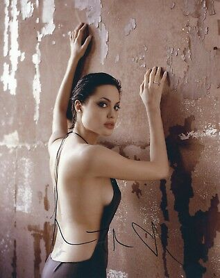 ANGELINA JOLIE SIGNED 8x10 PHOTO 2 - UACC & AFTAL RD AUTOGRAPH