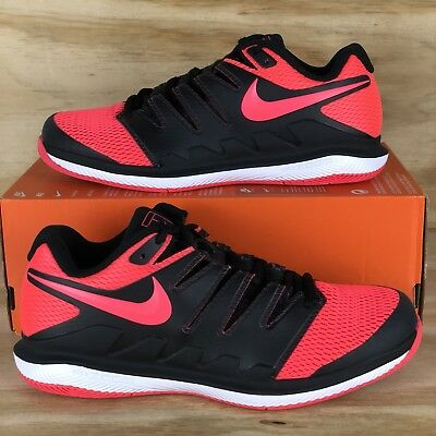 3b717c3f6404 Nike Air Zoom Vapor X HC Mens Tennis Shoes Black Solar Red AA8030 006 Multi  Size