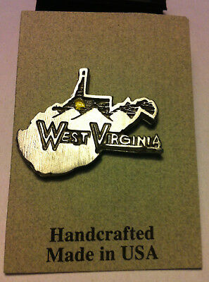 WEST VIRGINIA State Outline Collectible Lapel Pin
