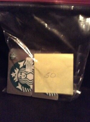 NEW STARBUCKS 2018 US SILVER SPARKLE SIREN GIFT CARD LIMITED Log of 50