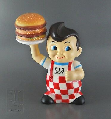 Vintage Bob's Big Boy Coin Money Piggy Bank Hard Vinyl W/ Hamburger