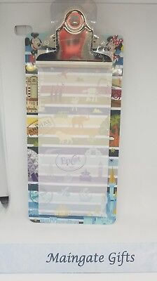 Disney Parks Clipboard Magnet Kitchen List Notepad  four parks Magic Kingdom NEW