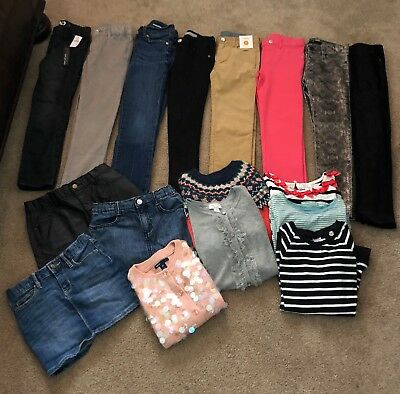 17 Piece Lot of Girls Clothes - Size 7 - Gymboree, Gap, 7 Jeans and more