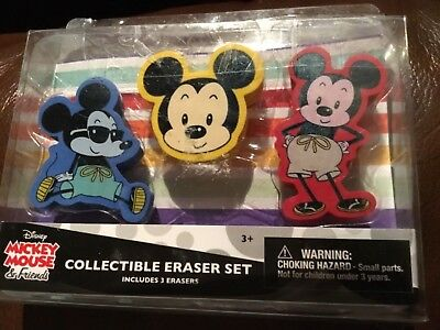 Disney Mickey Mouse & Friends Collectible Eraser Set