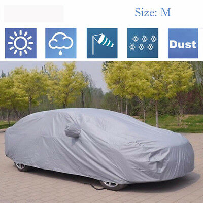 100% Waterproof Medium Full Car Cover Extra Breathable UV Protection Outdoor M