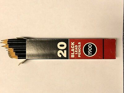 Faber-Castell 1900 Black Lead  HB Pencil for drawing - box of 20 pencils